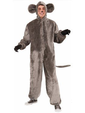 Plush Gray Mouse Adult Costume