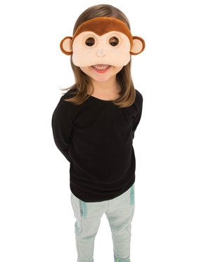Plush Monkey Eye Mask