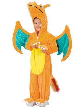 Pokemon Charizard Jumpsuit Child Costume 4