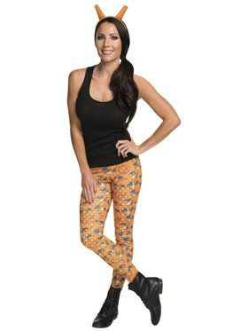 Adult Pokmon Charizard Leggings and Headband Costume Kit