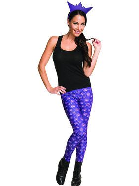 Adult Pokmon Gengar Leggings and Headband Costume Kit