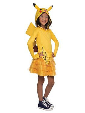 Girl's Pokmon Pikachu Hoodie Dress
