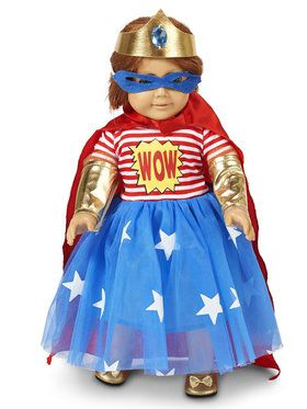 Pop Art Superhero Girl Comic 18 Doll Costume