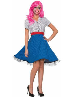 Pop Art Ms Dottie Costume - Adult Standard Standard