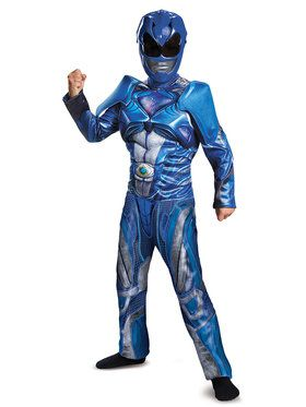 Power Rangers: Child Blue Ranger Classic Muscle Costume