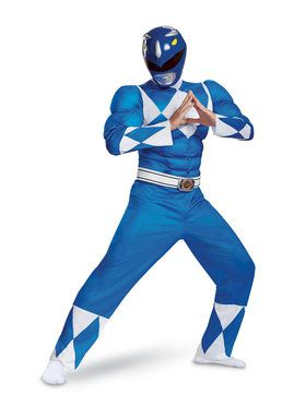 Muscle Classic Blue Power Ranger Costume
