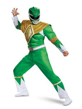 Power Rangers Adult Mighty Morphin Green Ranger Classic Muscle Costume