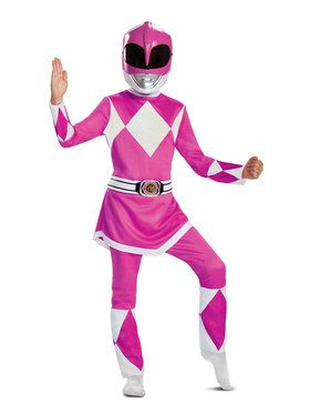 Child Deluxe Mighty Morphin Pink Power Ranger Costume