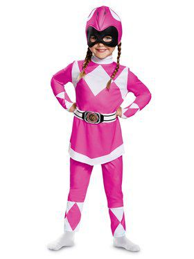 Classic Toddler Mighty Morphin Pink Power Ranger Costume