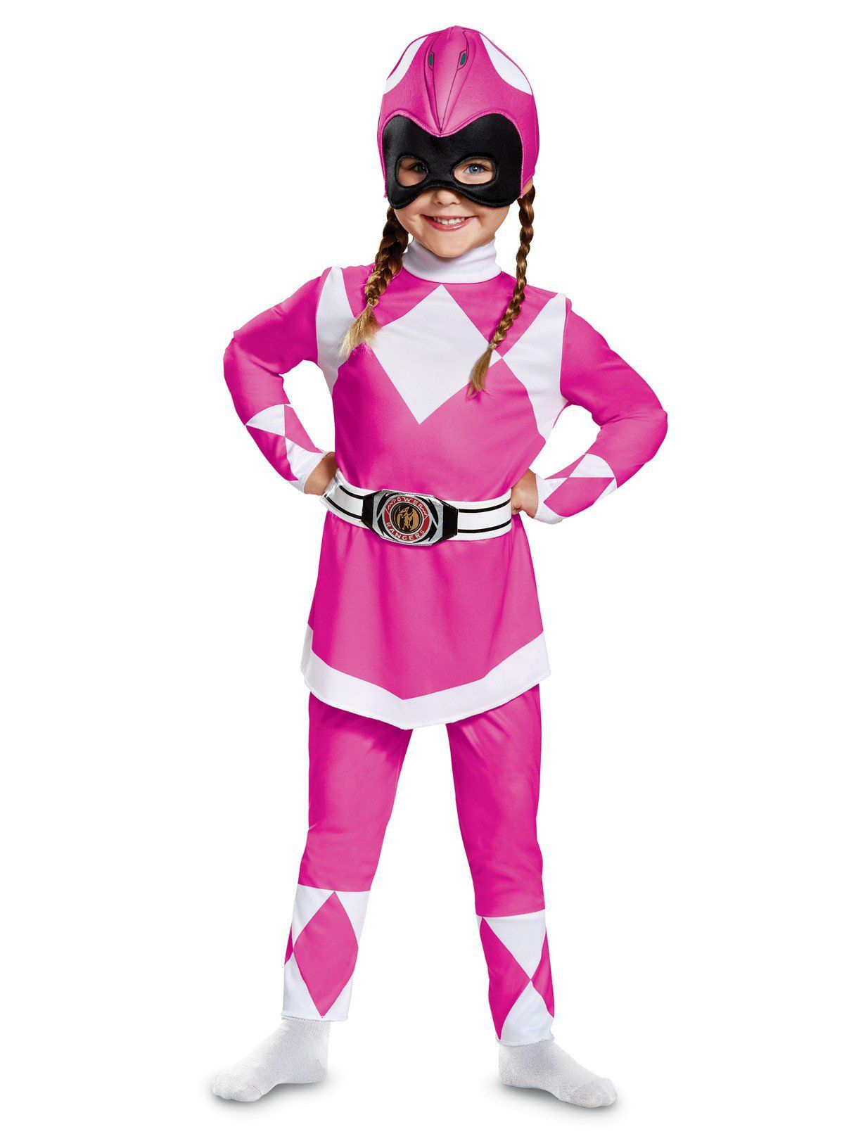 classic toddler mighty morphin pink power ranger costume kids 2018