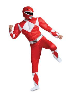 Muscle Classic Adult Mighty Morphin Red Power Ranger Costume