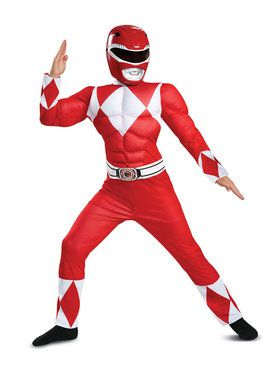 Muscle Classic Child Mighty Morphin Red Power Ranger Costume