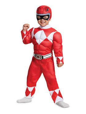 Toddler Muscle Mighty Morphin Red Power Ranger Costume