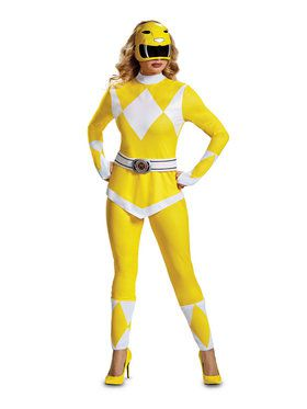 Adult Mighty Morphin Yellow Power Ranger Costume