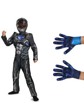 Power Rangers Movie Black Ranger Children's Classic Muscle Costume Kit