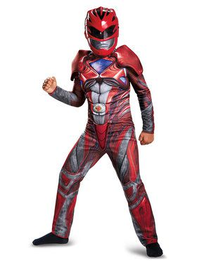 Power Rangers: Child Red Ranger Classic Muscle Costume