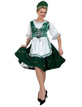 Premium Deluxe Irish Lass Adult Costume