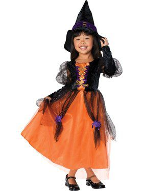 Pretty Witch Costume For Children