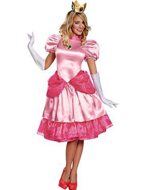 Princess Peach Deluxe Adult  sc 1 st  BuyCostumes.com & Super Mario Brothers Costumes - Halloween Costumes | BuyCostumes.com