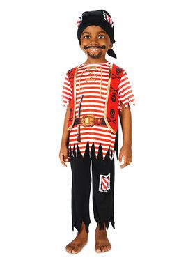 Child Printed Pirate Matey Costume