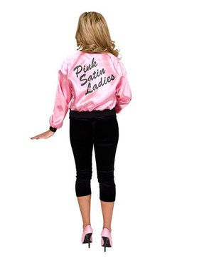 Printed Satin Jacket Pink Ladies Adult C