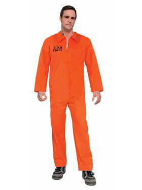 Prisoner Jumpsuit - Orange Adult Costume