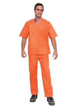 Prisoner Suit - 2Pc - Orange Adult Costume