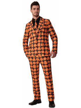 Pumpkin Suit & Tie - Large Adult Costume