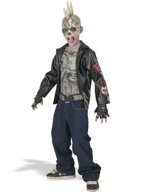 Punk Zombie Costume -Child