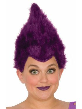 Purple Adult Fuzzy Wig