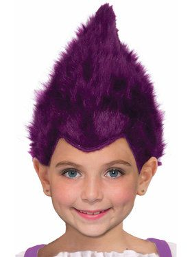 Purple Child Fuzzy Wig