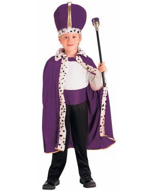 Purple King Robe and Crown Child Costume One-Size