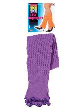 Neon Leg Warmers - Purple