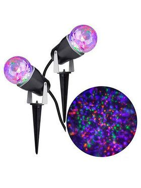 Purple, Orange, Green Kaleidoscope Projection Light (Set of 2)