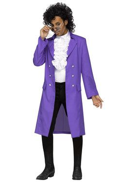 Purple Rain Plus Jacket Adult Costume