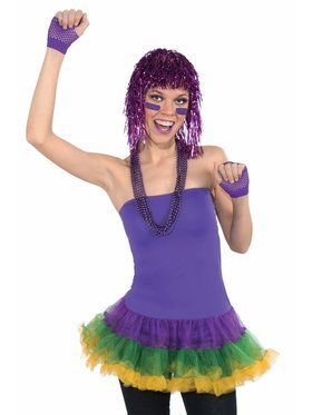 Shiny Purple Tinsel Wig