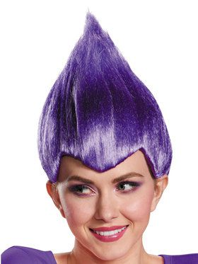 Purple Troll Wacky Wig Adult
