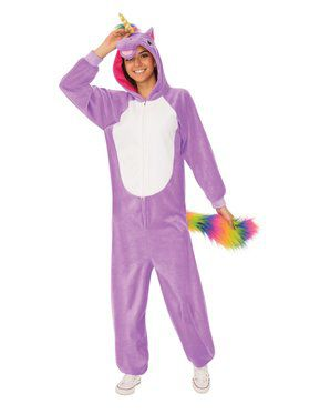 Purple Unicorn Comfy Wear Adult Costume