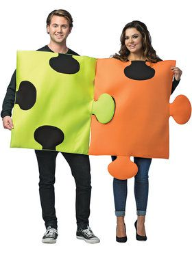 Puzzle Pieces Adult Couples Costume Standard