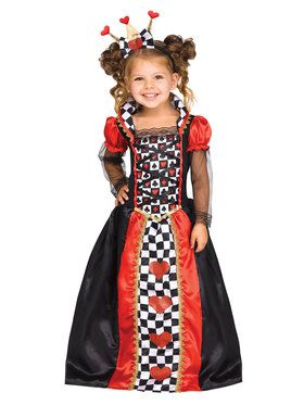 Queen of Hearts Girl Costume