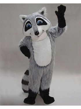 Adult Raccoon Mascot Costume