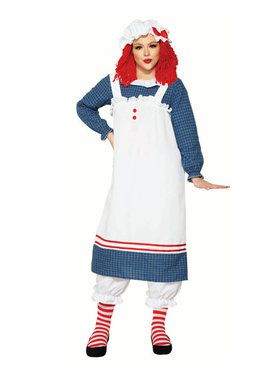 Raggedy Ann Doll Costume for Adults
