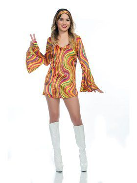 Rainbow Lights Disco Diva Adult Costume