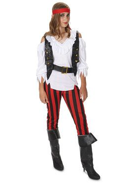 Rebel Girl Pirate Tween Costume
