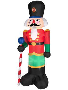 6.5 Ft Airblown Red Nutcracker Decoration