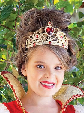 Princess Tiara (Ruby Red/Gold) Child