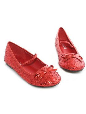 Red Ballet Slipper With Glitter Child