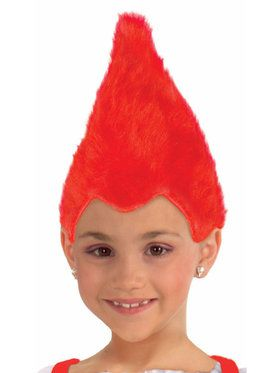 Red Child Fuzzy Wig