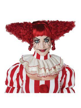 Creepy Red Clown Wig