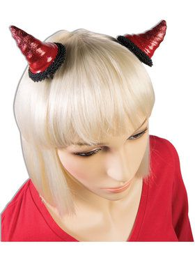 Red Devil Horn Barrettes